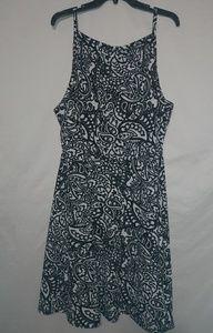 Rue Black White Flower Shift Dress 3X Plus